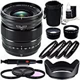 Fujifilm XF 16mm f/1.4 R WR Lens + 67mm 3 Piece Filter Set (UV, CPL, FL) + 67mm +1 +2 +4 +10 Close-Up Macro Filter Set with Pouch + 67mm Wide Angle Lens + 67mm 2x Telephoto Lens with pouch Bundle 3