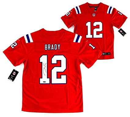 check out c169d 452e5 Signed Tom Brady Jersey - Nike Limited Red Tristar ...