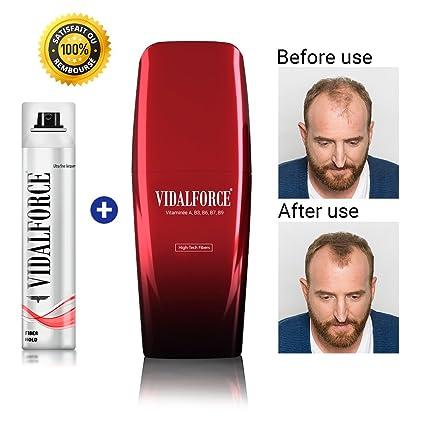 VidalForce Fijador y Fibra Capilar Premium Castaño Oscuro - 40 gr