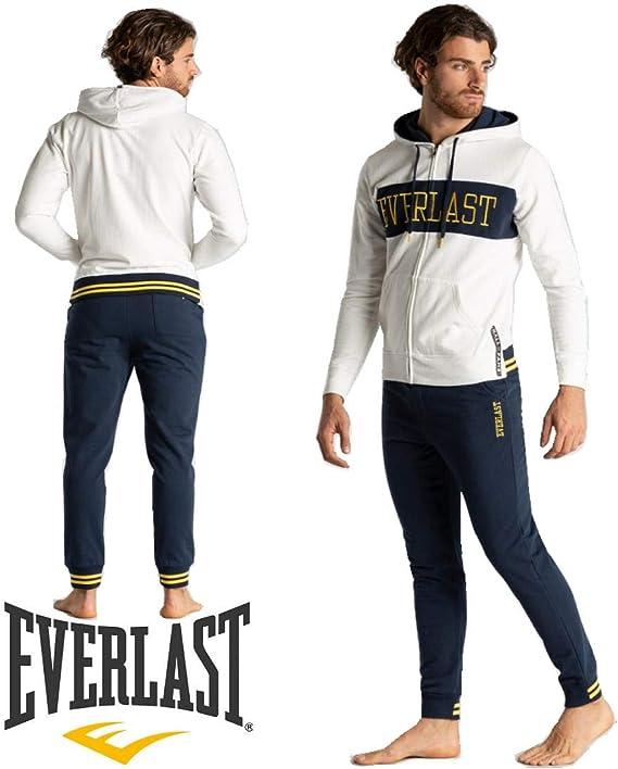 Everlast - Chándal - para Hombre Bianco + BLU M: Amazon.es: Ropa y ...