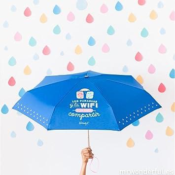 Mr. Wonderful - Paraguas pequeño : los paraguas y la wifi son para compartir