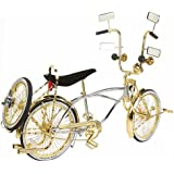 "20"" Lowrider Bike Gold-Chrome 527-3 Lowrider bicycle Original Lowrider Frame distributed by Bikes Xpress"