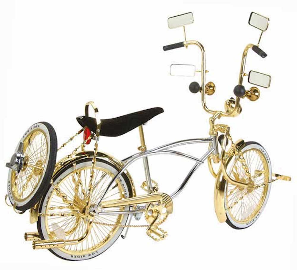 amazoncom 20 lowrider bike gold chrome 527 3 lowrider bicycle original lowrider frame distributed by bikes xpress sports outdoors