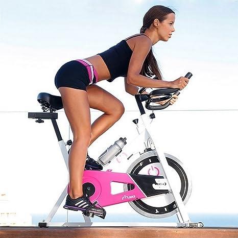 Velo Spinning biking estática fitness pro Training rosa: Amazon.es ...