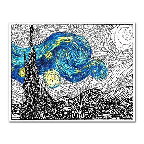 Premium Coloring Framing VanGogh Unframed