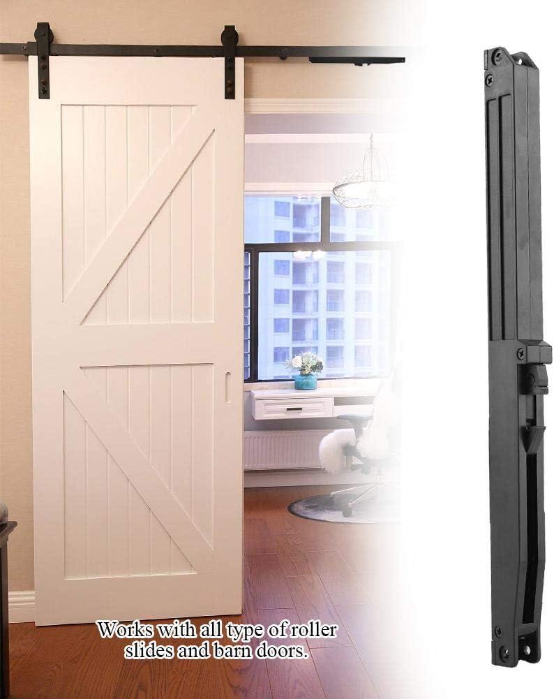 Herrajes para puertas de granero Mecanismo Muebles Puerta corredera de granero Mecanismo de cierre suave Sistema de amortiguación de resorte con tornillos de fijación: Amazon.es: Bricolaje y herramientas