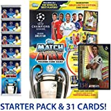 2017-18 TOPPS MATCH ATTAX CHAMPIONS LEAGUE STARTER PACK HARD COVER BINDER, PLAY PITCH, 30 CARDS WITH LIMITED EDITION GOLD RONALDO! **SHIPS FROM USA**