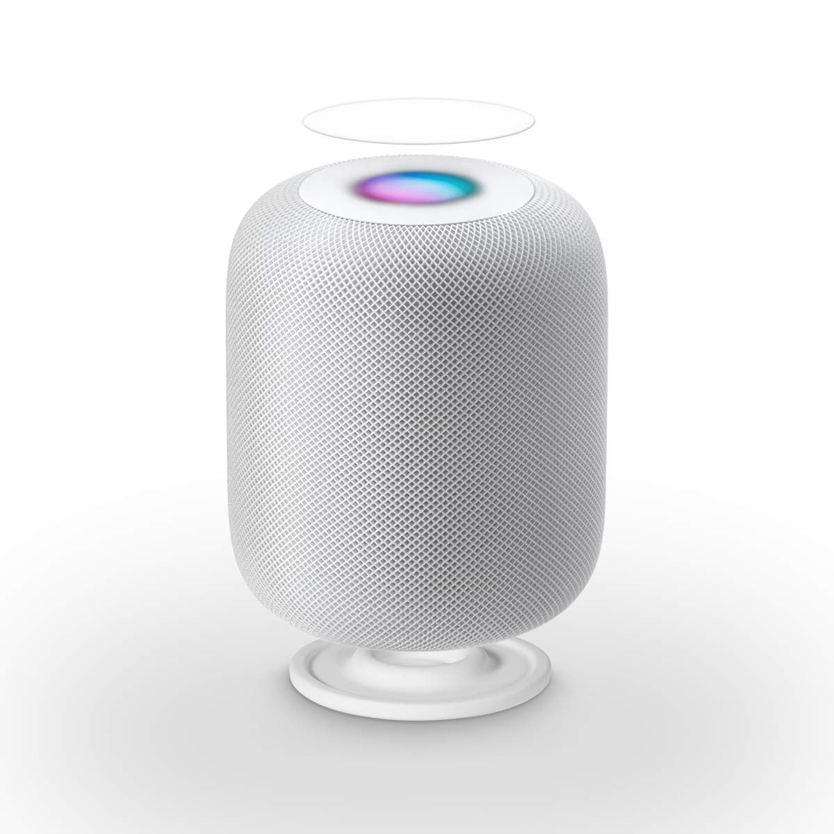 LANMU Anti-Slip Pad for HomePod,Silicone Shockproof Coaster Stand for HomePod with Screen Protectors (White)