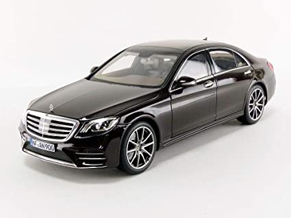 2018 Mercedes Benz S Class Amg Line Ruby Black Metallic 1 18 Diecast Model Car By Norev 183483