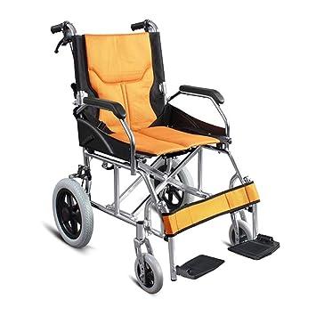 Shisky Silla de Ruedas Plegable Liviana y portátil de Viaje Ultraligera para Personas Mayores multifunción para discapacitados con Carrito Multiusos: ...