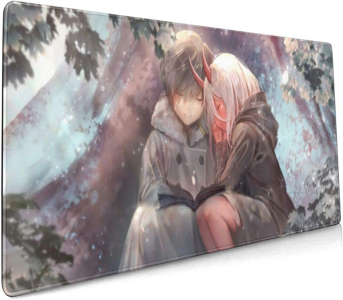 40 X 90 cm PHOEBE DOHERTY Darling in The FRANXX-Hero and Zero Two Young Anime Mouse Pad 15.7 X 35.4 Inch Soft Gaming Mouse Mat Ultra Thick 3mm Extended Large