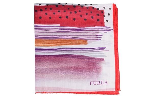 f0c0b27be171 Furla Écharpe Femme Rouge Noir,Orange,Violet Geométrico Modal 70 cm x 200 cm