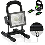Outdoor floodlight Camping Shop Lights Vaincre 15W 24LED Portable LED Work Lights, Built-in Rechargeable Lithium Batteries with USB Ports to charge Mobile Devices
