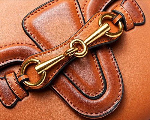 Sella retrò moda borsa tracolla femmina borsa Messenger marrone (tromba)