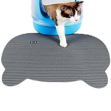 UKCOCO Alfombra de Gato Interior, Alfombra Antideslizante para Gatos, Alfombrilla Antideslizante para Gatos Mantel de Tazón Alimentación para Mascota ...