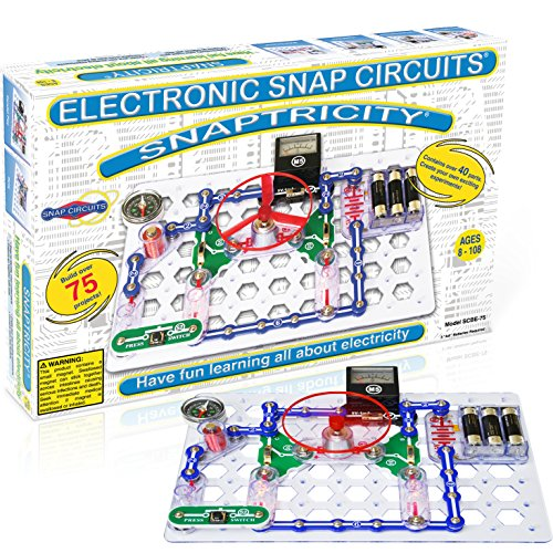 Snap Circuits Snaptricity Electronics Exploration Kit | Over 75 STEM Projects |...