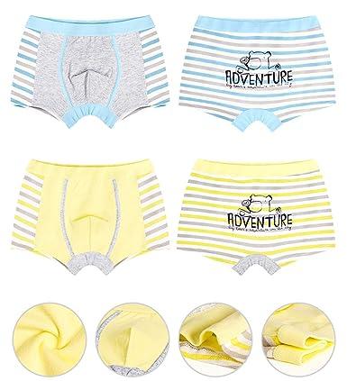 2-12Y AJOMAN Boys Underwear 4-Pack Bear Adventures Boxer Briefs