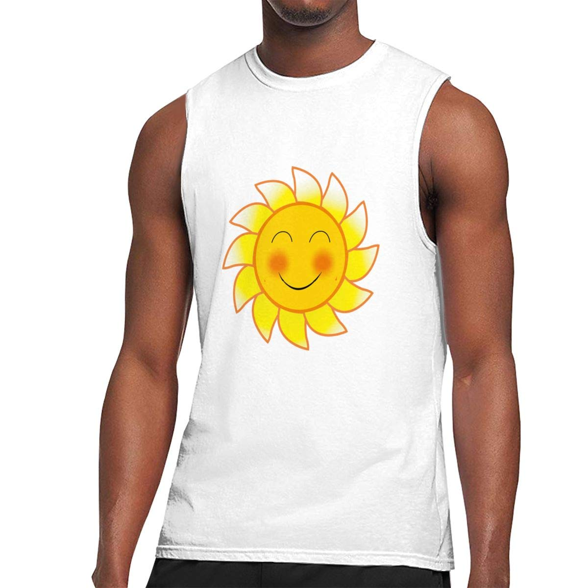 Seuriamin Smile Blushing Sun Expression S Funny Tennis Sleeveless Muscle Short Sleeve T Sh