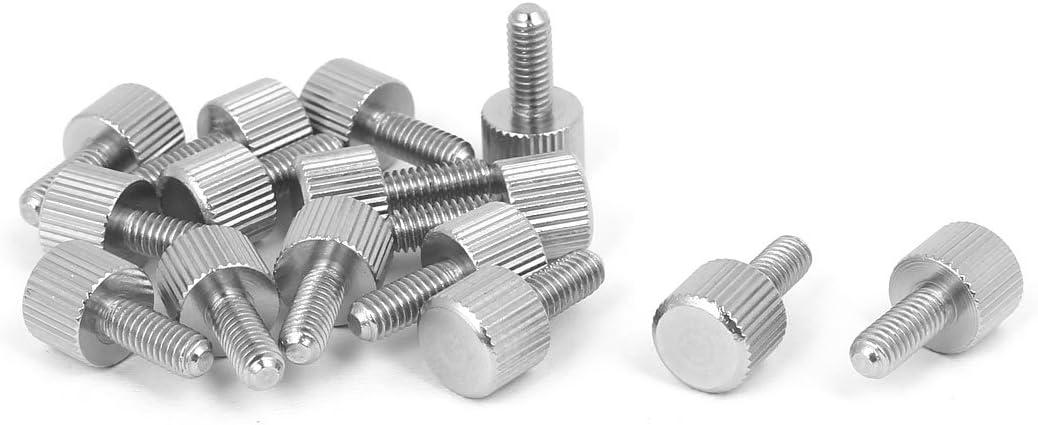 M6*10//15//20//30  PC Case Anodised Aluminium Knurled Thumb Screws Head Size D14*5