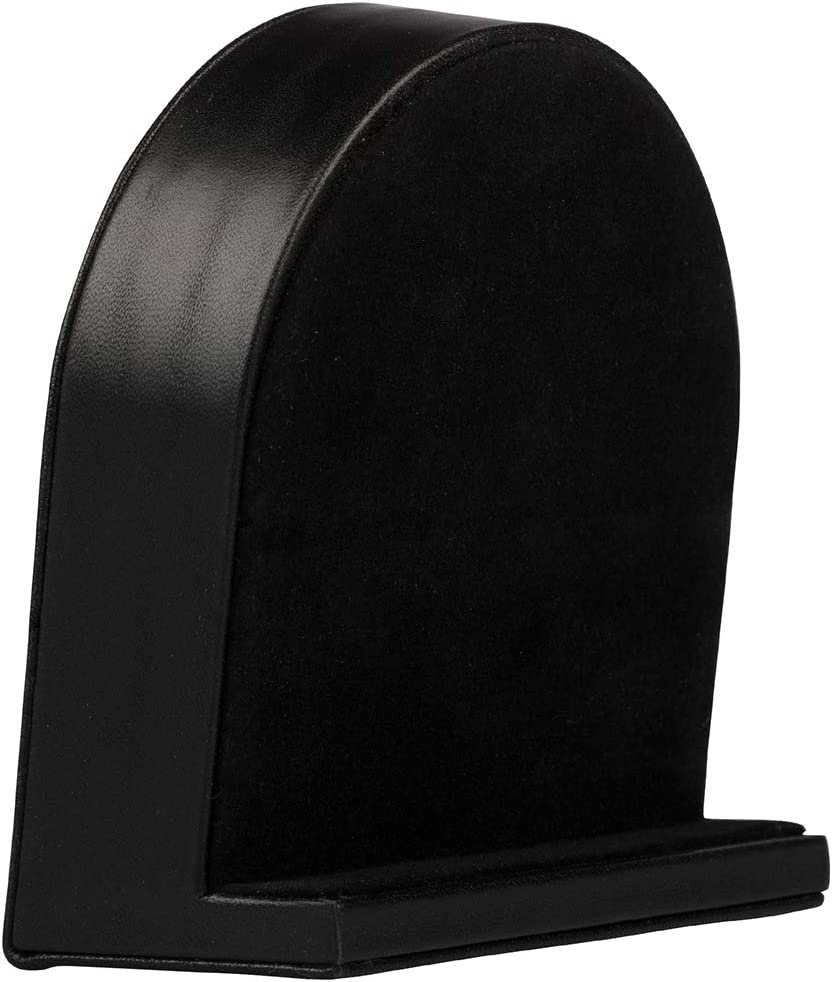 Black Leather JAM PAPER Vintage Desk Clock 4 x 4 1//4 Sold Individually