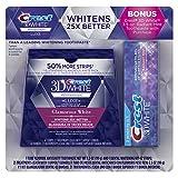 Beauty : Crest 3D White Luxe Whitestrips Dental Teeth Whitening Strips Kit, Glamorous White, 21 Treatments + BONUS Crest 3D White Radiant Mint Toothpaste