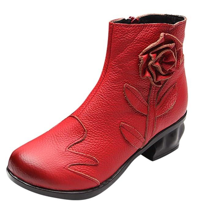 a789cebf POLP Botas Mujer Plataforma Zapatos con Tacon bajo Alto para Mujer  Plataforma Botas Negras de cuña