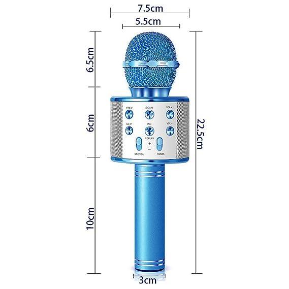 Amazon.com: Micrófono de karaoke Bluetooth, karaoke portátil ...