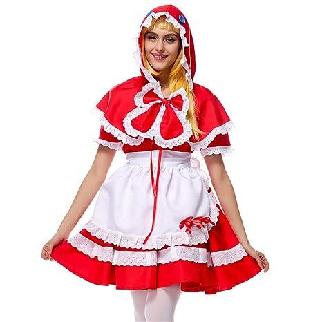 D_HOM Señoras Caperucita Roja Cosplay Disfraz Fiesta de ...