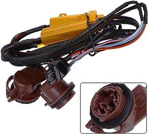 3157 4157 Load Resistor 6 Ohm Fix Hyper Flash for Ford Chevrolet Nissan Toyota Acura Switchback LED Turn Signal Light Error Code Resistors(Pack of 2)