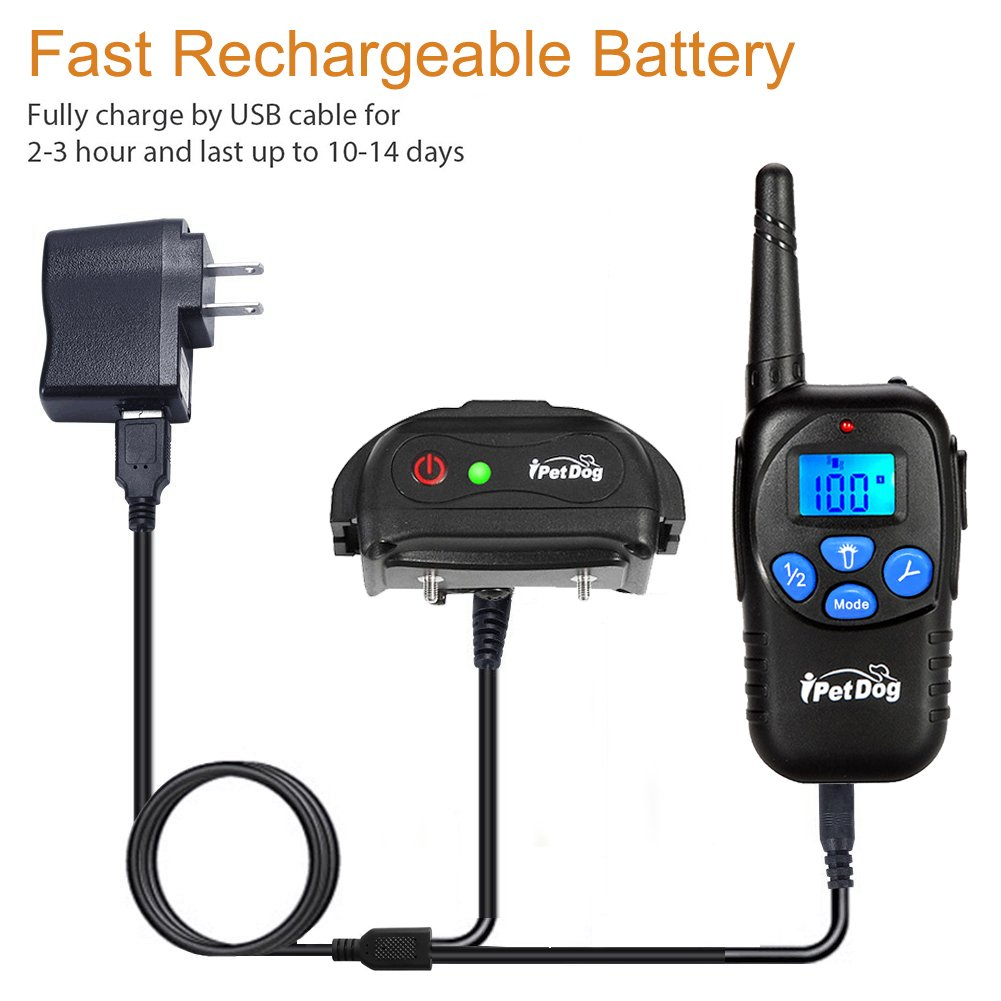 Fettish Dog Training Collar Rechargeable & Waterproof Electric Remote Dog Shock Collar with LED Light Beep Vibration Safety Shock Modes for Small/Medium/Large Training Collars by Fettish (Image #7)