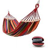 Hamaca Colgante para Jardin Camping | Max 300kg de Capacidad de Carga, (200 x 150 cm) | Hamacas Colgantes con Barras Extendidas para 2 Personas | Rojo