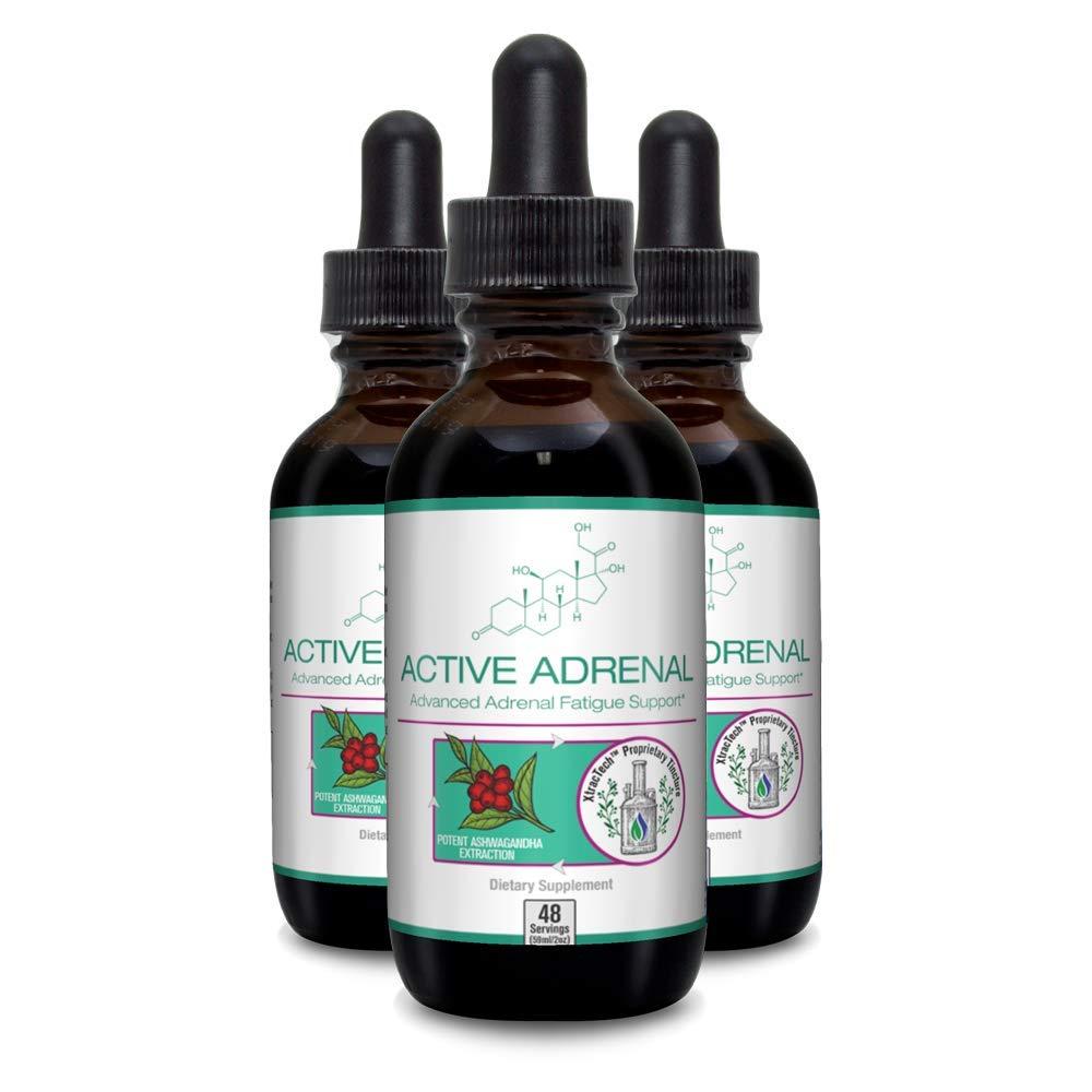 Active Adrenal - Advanced Adrenal Fatigue Supplement All Natural Liquid Formula for 2X Absorption Ashwagandha, B-Vitamins, Magnesium and More