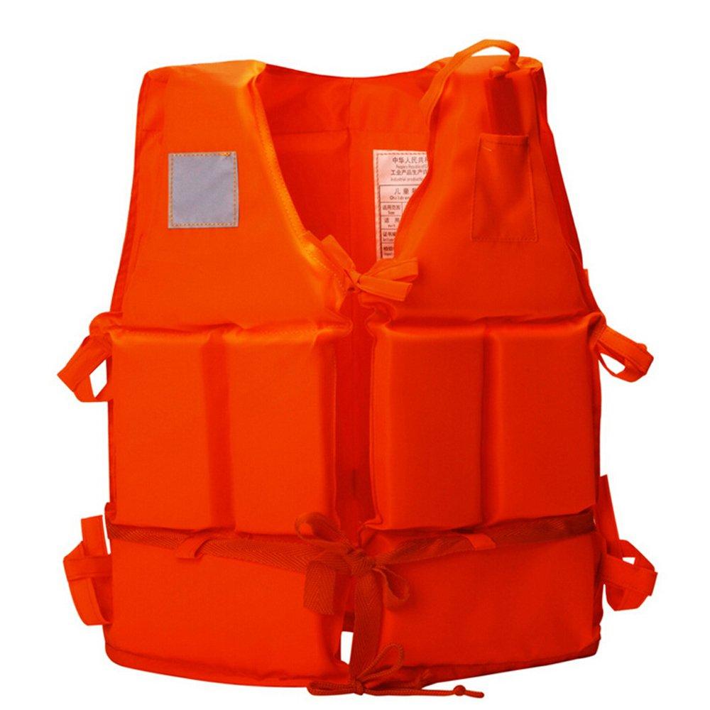 【即発送可能】 Ezyoutdoorオレンジジャケットベスト軽量多機能Foam反射Foam水泳ライフジャケットベスト+ Lifesavingホイッスルの子   B01M1IFA43, 小県郡:ccec7a28 --- a0267596.xsph.ru