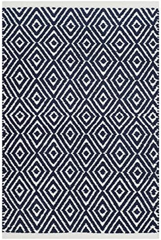 Safavieh Boston Collection BOS682D Handmade Navy Cotton Area Rug 3 x 5