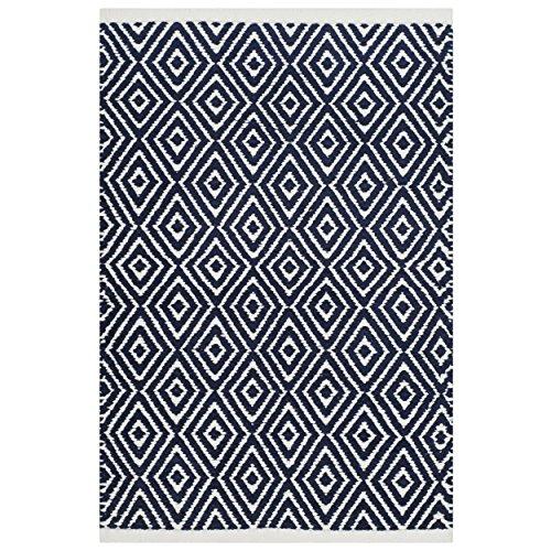 Safavieh Boston Collection BOS682D Handmade Navy Cotton Area Rug 3 x 5