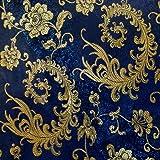 G099 coupon de tissu de brocart soie au broderie fine - par mètre - Patchwork couture F