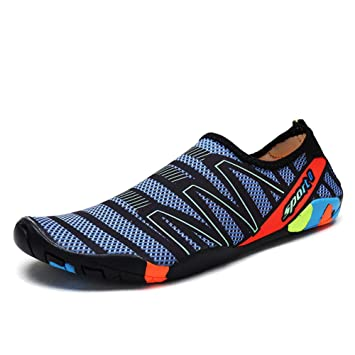 ZXLIFE@ Hombres Y Mujeres Zapatos De Agua Descalzo Atlético Playa Zapatos De Piscina Ligeros De