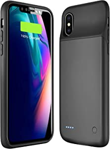 Wixann Battery case for iPhone X/XS/10, 3200mAh Slim Portable Charger Case Protective Rechargeable Battery Pack Charging Case for iPhone X/XS/10