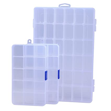 Amazoncom Ecrocy 3 Pack of Clear Plastic Jewelry Box Organizer