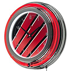 Honda Wing Chrome Double Ring Neon Clock, 14