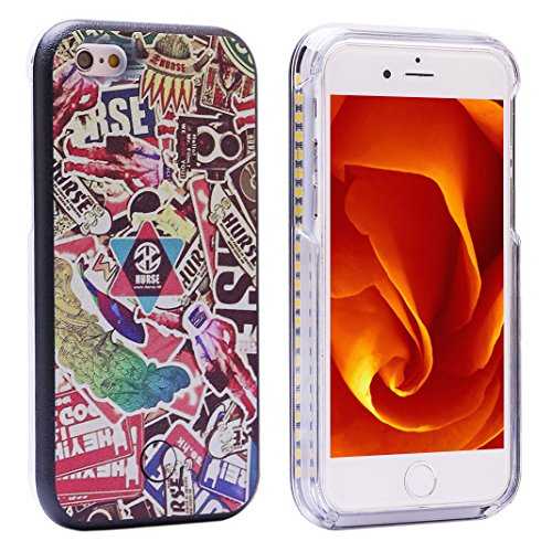 """iPhone 6 Case, ZXK CO Soft Led Lighting Phone Case Hard Cover for iPhone 6 6S 4,7""""- Scrawl"""