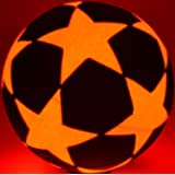 Light Up LED Star Soccer Ball - Uses 2 Hi-Bright LED Lights - Size 5