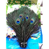 50pcs Real Natural Peacock Feathers Wedding Decorations About 10-12 Inches (25-30cm) by lotmusic