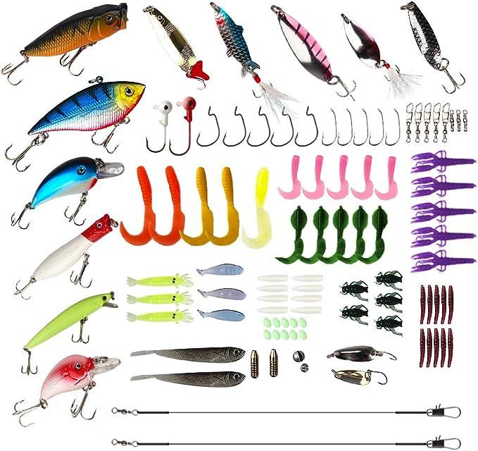 50pcs Plastic Soft Red Earthworm Fishing Baits Worm Lures Crankbait Hook Bait CA