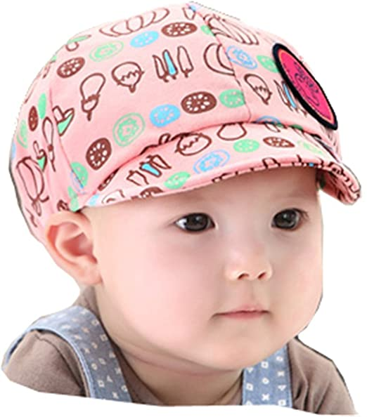 39efd8c4c37 Image Unavailable. Image not available for. Color  Gzmm Baby Boy Girl Kid  Toddler Infant Hat Peaked Baseball Beret Cap ...