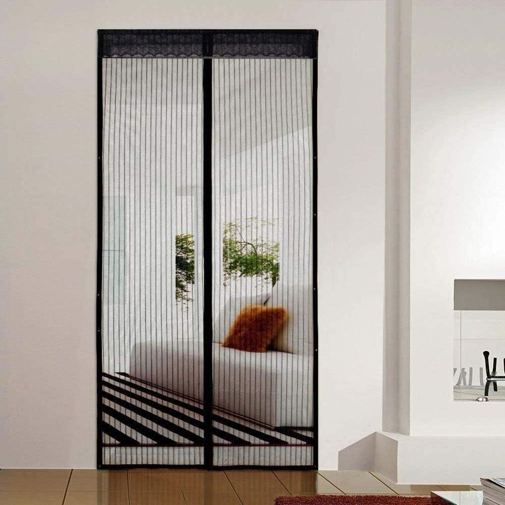 XUENUO Puerta De Pantalla Magnética, 120X200 Puerta Mosquitera Enrollable, Cierre Magnético Automático Que Evita El Paso De Insectos Fácil De Ensamblar,95×200cm(37×79in): Amazon.es: Hogar