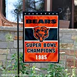 Chicago Bears 1985 Super Bowl Champions Double Sided Garden Flag
