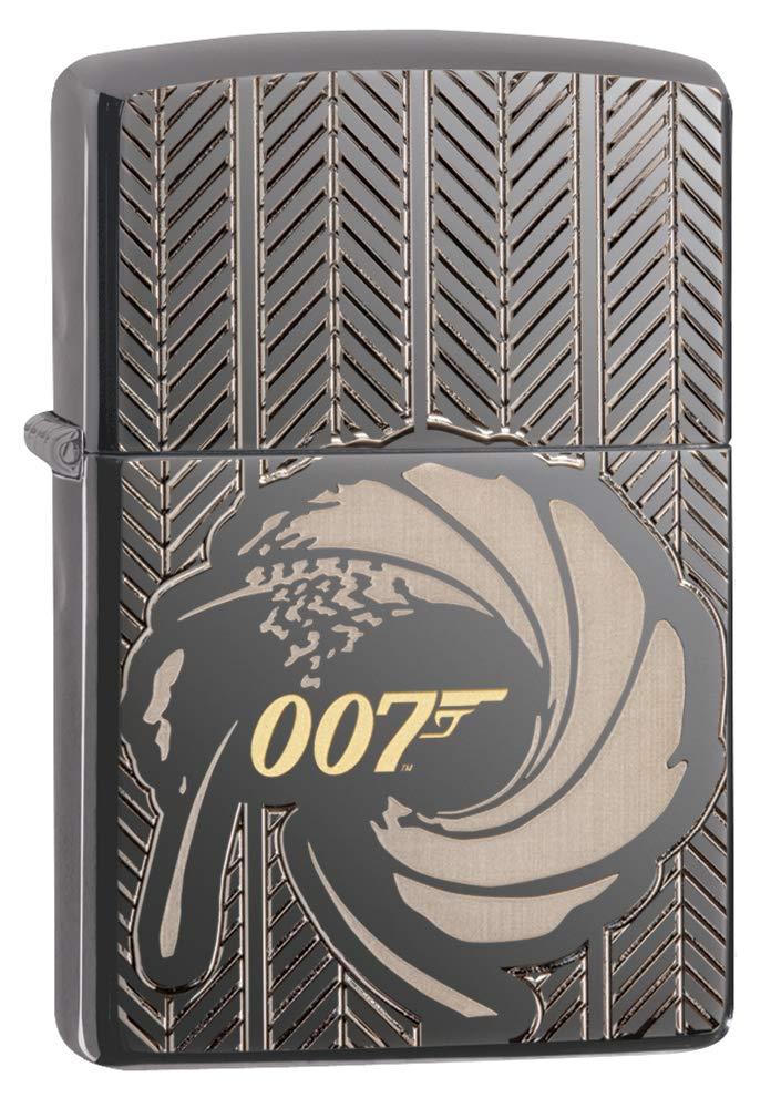 Zippo James Bond 007 Armor Black Ice Pocket Lighter