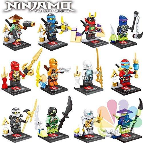 [gonggamtop 12pcs Ninjago Minifigures Building Blocks Toy Kai Zane Cloe Kids Gifts] (Diy Toothless Dragon Costume)