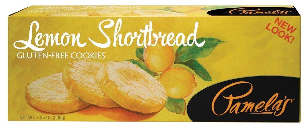 Pamela's Products - Gourmet All Natural Cookies Gluten Free Lemon Shortbread - 7.25 oz (pack of 2)